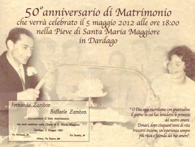 Eccezionale Partecipazioni 50 Anni Matrimonio | Householdlinenscork WX56